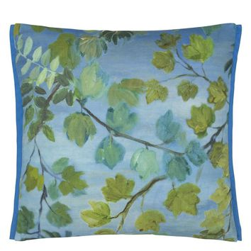 Designers Guild Giardino Segreto Outdoor Cornflower Decorative Pillow