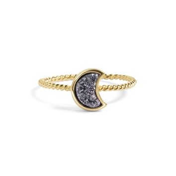 Moonbloom Silver Druzy Stacking Ring