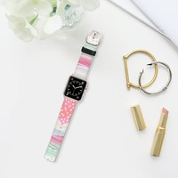Casetify Apple Watch Band (42mm) - Mint Girly Pink by Famenxt