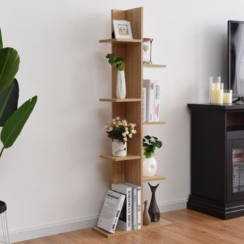Open Concept Bookcase Display - Walnut