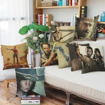 new 45*45cm The Walking Dead creative anime pillowcase office Wedding bedding couch Vintage pillow case/cover home decorative