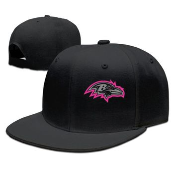 Baltimore Ravens Breast Cancer Awareness Team Travel Performance Funny Unisex Adult Womens Fitted Hats Mens Baseball Cap