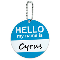 Cyrus Hello My Name Is Round ID Card Luggage Tag