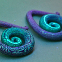 Elixir Polymer Gauged Earrings
