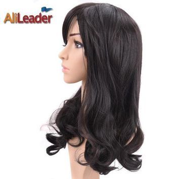 CREYNW6 AliLeader Hair Products Short Long Medium Length Wig For Black And White Women, Stock Clearance Synthetic Wigs Heat Resistant