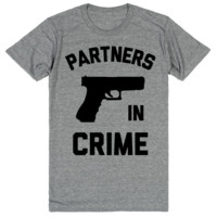 Partners in Crime - Best Friend Shirts - BFF 1 of 2
