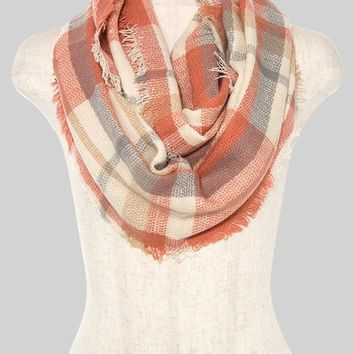 (pre-order) Ginger Plaid Infinity Scarf