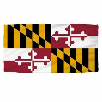Maryland Flag Beach Towel