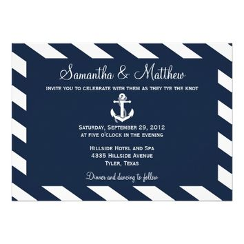 NAUTICAL ANCHOR | WEDDING INVITATIONS