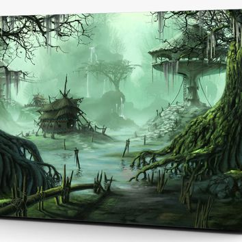 Fantasy Forrest Tree House Vinyl Laptop Computer Skin Sticker Decal Wrap Macbook Various Sizes