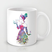 Princess Tiana The Princess and the Frog Watercolor Mug by Bitter Moon
