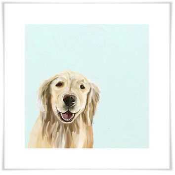 Best Friend - Blonde Retriever Wall Art