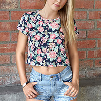 Floral Rush Boxy Tee