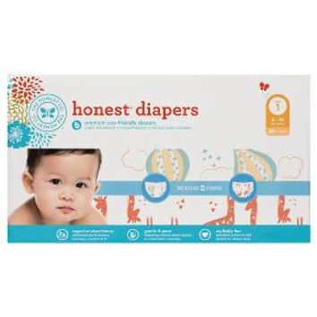 Honest Company Diapers Club Pack Balloons + Giraffes Size 1 (80 ct)