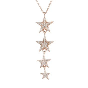 Rosegold Star Drop Necklace