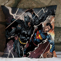 batman vs superman marvel superhero pillow case 16 x16,18 x 18,20x 20 one side or two side