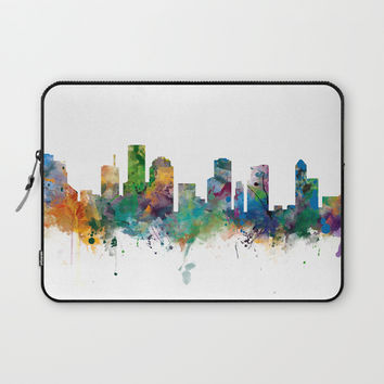Houston Skyline Laptop Sleeve by monnprint