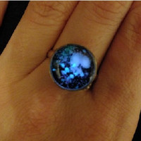 starry night ring glow in the dark after UV absorption ring noctilucent ring galaxy ring bride friendship love gifts unique lovers gifts