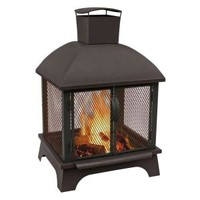 LANDMANN, Redford 26 in. Wood Burning Outdoor Fireplace, 25722 at The Home Depot - Mobile