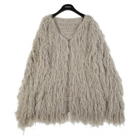 Hairy Knit Cardigan