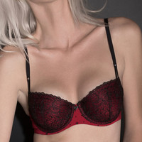 Blackheart Embroidered Teaser Push-Up Bra