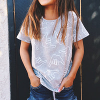 Kid's Shaka Tee Heather Grey