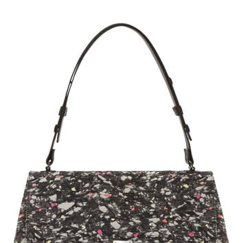 Proenza Schouler Charcoal Multicolor Textile Courier Bag