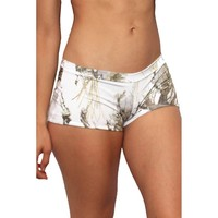 Women's White True Timber Hot Shorts Only Bikini Swimwear
