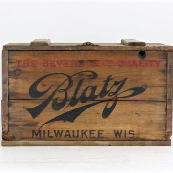 Vintage Blatz Beer Wood Crate 1928, Blatz Beer Wood Crate, Blatz Beer Wood Box, Old Beer Crate, Vintage Beer,  Decor, Prohibition Beer Crate