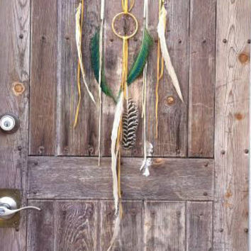 Bohemian Dream Altar //  OAK gold, dream catcher // boho, home decor, one of a kind, dreamcatcher, gift, spirit tribe