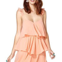 Nasty Gal Pretty in Peach Dress