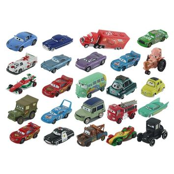 Disney Pixar Cars 2 Lightning McQueen Mater 1:55 Diecast Metal Alloy Model Car Birthday Gift Educational Toys For Children Boys