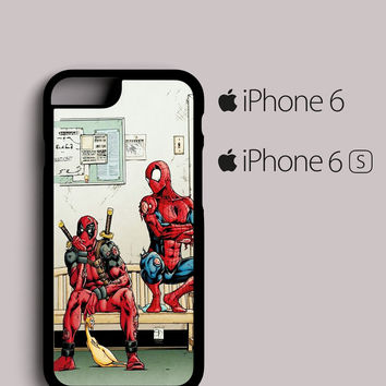Funny Spiderman and Deadpool iPhone 6, 6S case