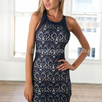 Higher Love Bodycon Dress (Navy) | Xenia Boutique | Women's fashion for Less - Fast Shipping