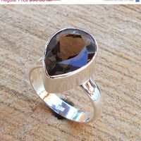 20% Off Sales Smoky Ring - Fine Silver Ring, High Quality Ring, Solid Silver Ring, Sterling Silver Ring, Latest Design