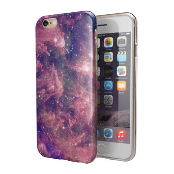 Vibrant Sparkly Pink Nebula 2-Piece Hybrid INK-Fuzed Case for the iPhone 6/6s or 6/6s Plus