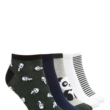 Panda Ankle Socks - 5 Pack