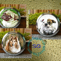 Variety of Small Dogs Art - - Digital Collage Sheets - 2.67 inch Circles for Pocket Mirrors, Magnets, Party Favors, Wedding Projects, Crafts