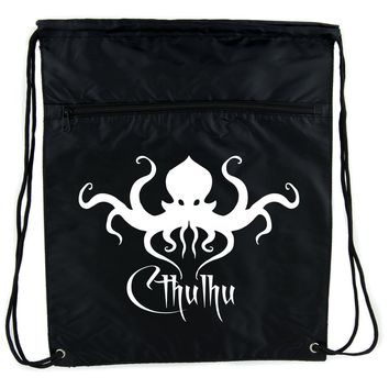 H.P. Lovecraft Cthulhu Octopus Cinch Bag Drawstring Backpack Occult