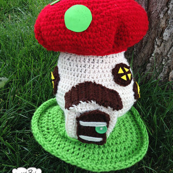 Fairy Gnome Garden House Opening Door- Crochet Custom Order Color