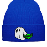 dope money EMBROIDERY - Beanie Cuffed Knit Cap