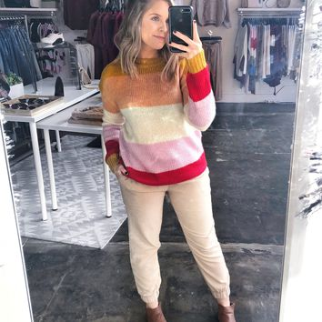 Desiree Multi Color Stripe Sweater