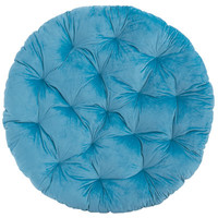 Papasan Cushion - Plush Turquoise
