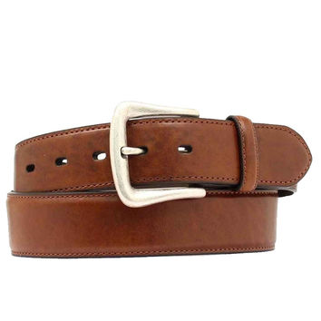Nocona Western Belt Mens Leather Smooth Overlay 52 Copper
