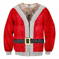 Hairy Santa Christmas Sweater