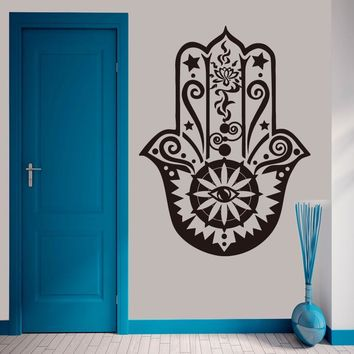 Hamsa Hand Wall Decal Vinyl Fatima Wall Sticker Indian Pattern