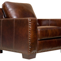 Marcus Leather Armchair, Espresso, Club Chairs