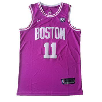 Men's Boston Celtics Kyrie #11 Irving Hyper Pink Jerseys - Best Deal Online