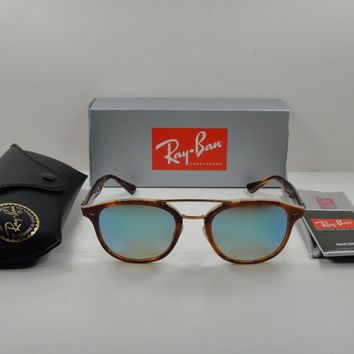 RAY-BAN SUNGLASSES RB2183 1128B7 TORTOISE FRAME/BLUE GRADIENT MIRROR LENS 53MM