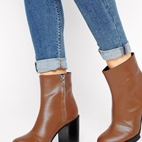 Cheap Monday Brown Layer Heeled Boots at asos.com